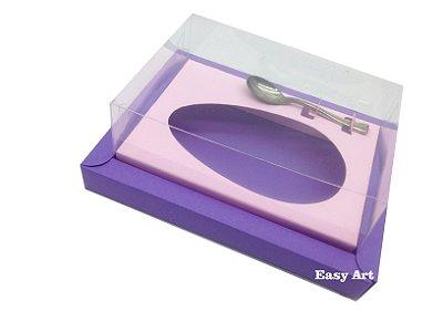 Caixa para Ovos de Colher 500g Lilás / Rosa Claro