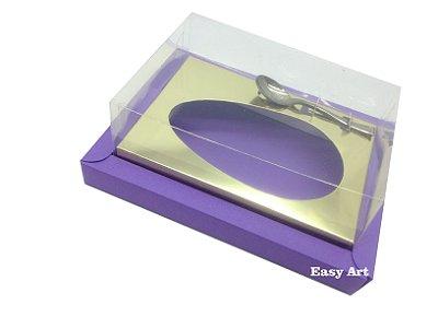 Caixa para Ovos de Colher 500g Lilás / Dourado