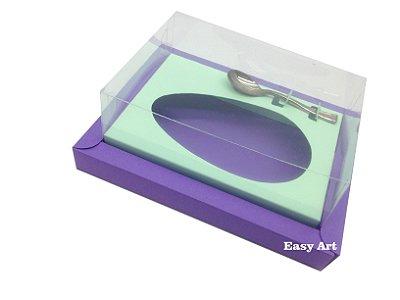 Caixa para Ovos de Colher 500g Lilás / Verde Claro