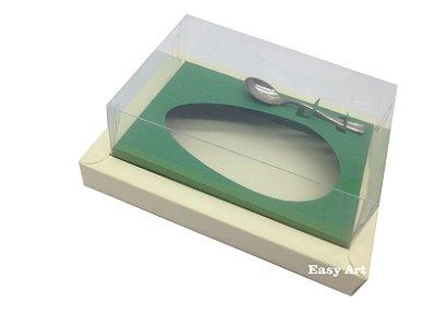 Caixa para Ovos de Colher 500g Marfim / Verde Bandeira