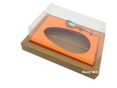 Caixa para Ovos de Colher 500g Marrom Claro / Laranja