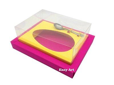 Caixa para Ovos de Colher 500g Pink / Amarelo