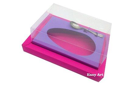 Caixa para Ovos de Colher 500g Pink / Lilás