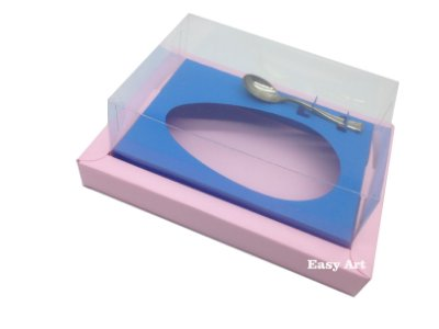 Caixa para Ovos de Colher 500g Rosa Claro / Azul Turquesa