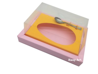 Caixa para Ovos de Colher 500g Rosa Claro / Laranja Claro