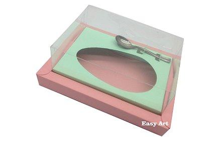 Caixa para Ovos de Colher 500g Salmão / Verde Claro