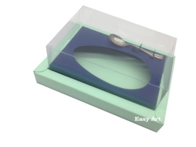 Caixa para Ovos de Colher 500g Verde Claro / Azul Marinho