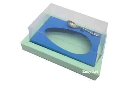 Caixa para Ovos de Colher 500g Verde Claro / Azul Turquesa