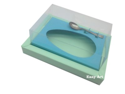 Caixa para Ovos de Colher 500g Verde Claro / Azul Tiffany