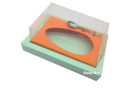 Caixa para Ovos de Colher 500g Verde Claro / Laranja