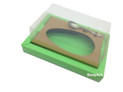 Caixa para Ovos de Colher 500g Verde Pistache / Marrom Claro