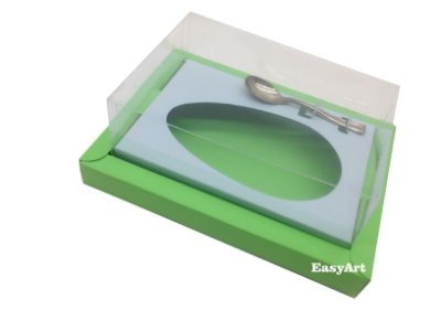 Caixa para Ovos de Colher 500g Verde Pistache / Azul Claro