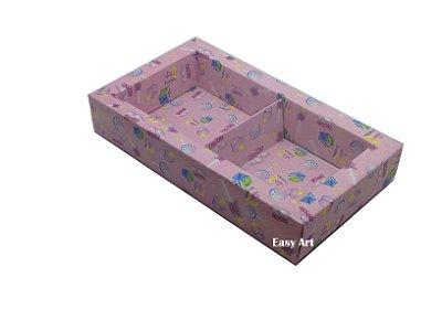 Caixa para 02 ou 03 Sabonetes / Estampado Bebê Menina