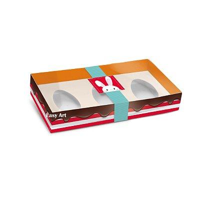 Caixa 3 Meio Ovo de Colher Adoleta -  50G - 21,5x11x5 / 01 Unidade