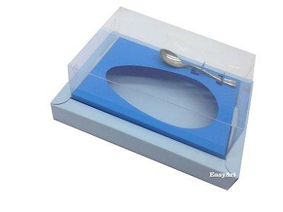 Caixa para Ovos de Colher 350g - Azul Claro / Azul Turquesa
