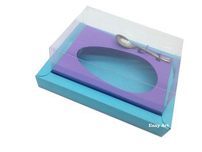 Caixa para Ovos de Colher 350g Azul Tiffany / Lilás