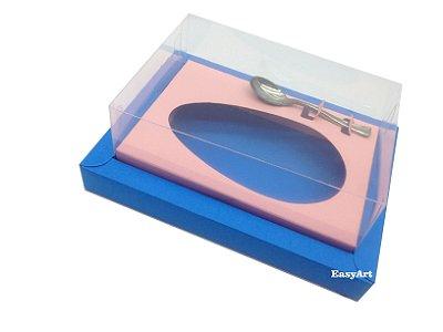 Caixa para Ovos de Colher 350g Azul Turquesa / Salmão