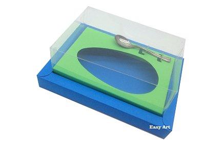 Caixa para Ovos de Colher 350g Azul Turquesa / Verde Pistache