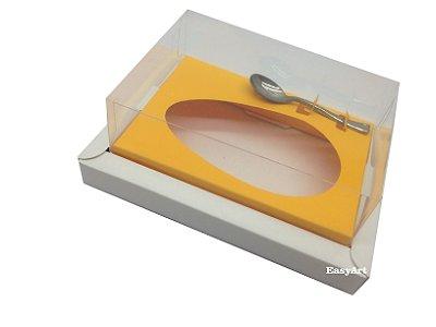Caixa para Ovos de Colher 350g Branco / Laranja Claro