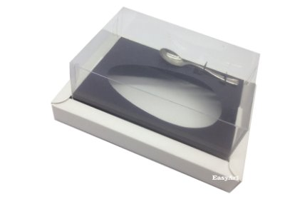 Caixa para Ovos de Colher 350g Branco / Preto