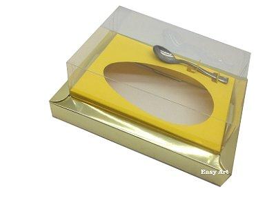 Caixa para Ovos de Colher 350g Dourado / Amarelo