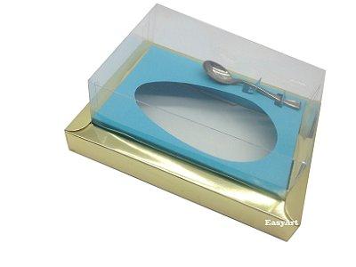Caixa para Ovos de Colher 350g Dourado / Azul Tiffany