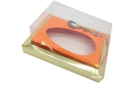 Caixa para Ovos de Colher 350g Dourado / Laranja