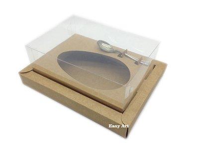 Caixa para Ovos de Colher 350g Kraft - Linha Colors