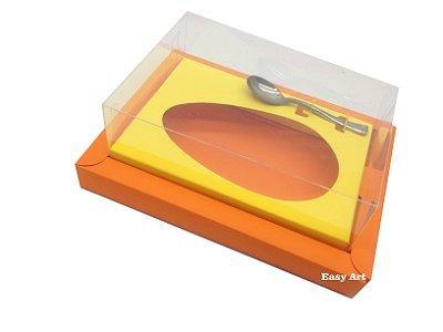 Caixa para Ovos de Colher 350g Laranja / Amarelo