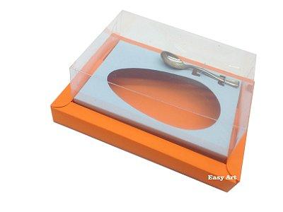 Caixa para Ovos de Colher 350g Laranja / Azul Claro