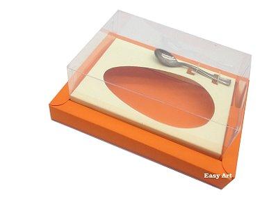 Caixa para Ovos de Colher 350g Laranja / Marfim