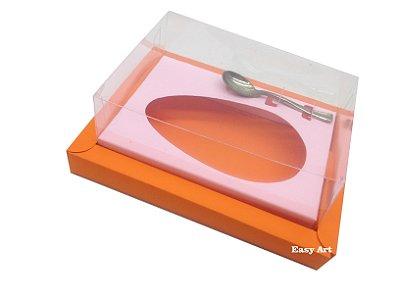 Caixa para Ovos de Colher 350g Laranja / Rosa Claro