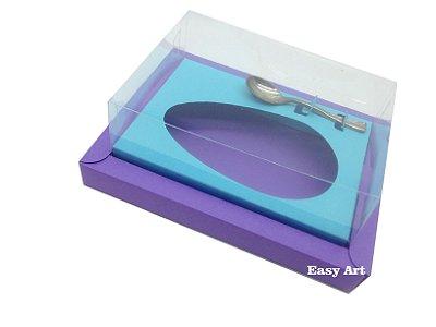 Caixa para Ovos de Colher 350g Lilás / Azul Tiffany