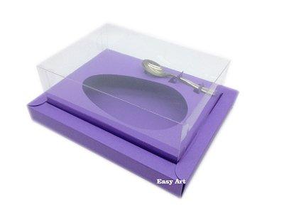 Caixa para Ovos de Colher 350g Lilás - Linha Colors