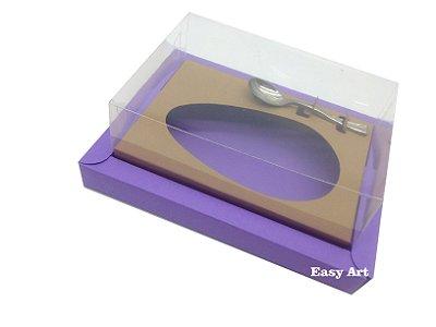 Caixa para Ovos de Colher 350g Lilás / Marrom Claro