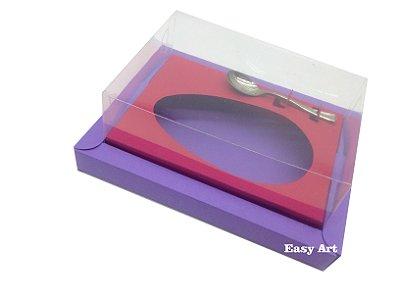 Caixa para Ovos de Colher 200g Lilás / Vermelho