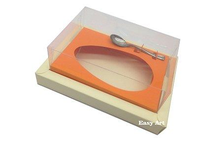 Caixa para Ovos de Colher 350g Marfim / Laranja