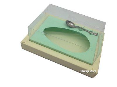 Caixa para Ovos de Colher 350g Marfim / Verde Claro