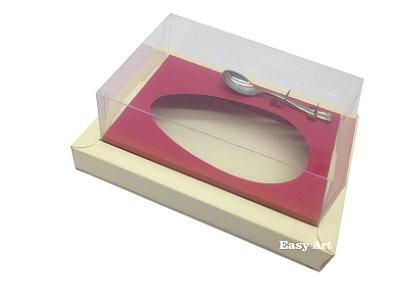 Caixa para Ovos de Colher 350g Marfim / Vermelho