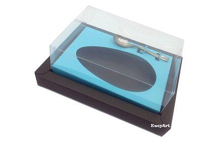 Caixa para Ovos de Colher 350g Marrom / Azul Tiffany