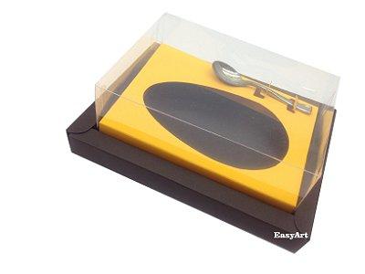 Caixa para Ovos de Colher 350g Marrom / Laranja Claro