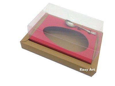 Caixa para Ovos de Colher 350g Marrom Claro / Vermelho