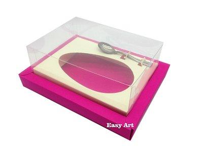 Caixa para Ovos de Colher 350g Pink / Marfim