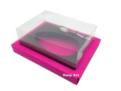 Caixa para Ovos de Colher 350g Pink / Preto