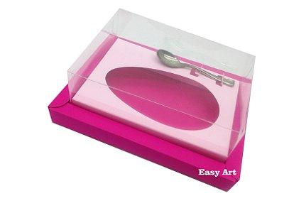 Caixa para Ovos de Colher 350g Pink / Rosa Claro