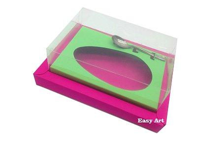 Caixa para Ovos de Colher 350g Pink / Verde Pistache