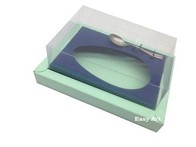 Caixa para Ovos de Colher 350g Verde Claro / Azul Marinho