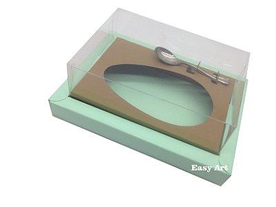 Caixa para Ovos de Colher 350g Verde Claro / Marrom Claro