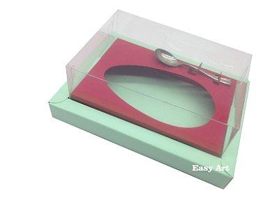 Caixa para Ovos de Colher 350g Verde Claro / Vermelho