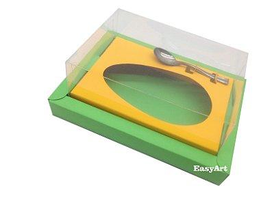 Caixa para Ovos de Colher 350g Verde Pistache / Laranja Claro